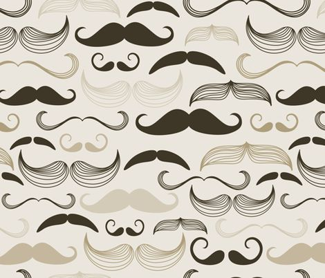 mustaches fabric by peacefuldreams on Spoonflower - custom fabric, wallpaper & giftwrap