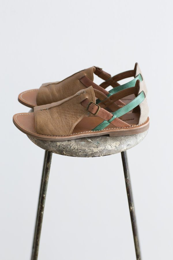 A handsome new style, the Zoe Sandal comes in three beautiful colourways and cute stitch detailing.  buckle closure rubber sole pigskin...