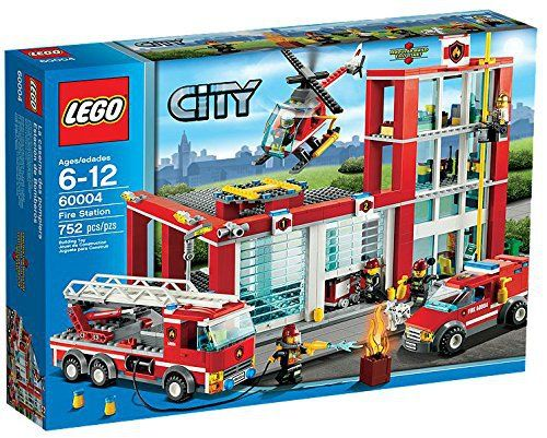 """Lego City Fire Station 60004       Famous Words of Inspiration...""""Do not needlessly endanger your lives until I give you the signal.""""   Dwight Eisenhower — Click here for more from Dwight... more details available at https://perfect-gifts.bestselleroutlets.com/gifts-for-holidays/toys-games/product-review-for-lego-city-60004-fire-station/"""