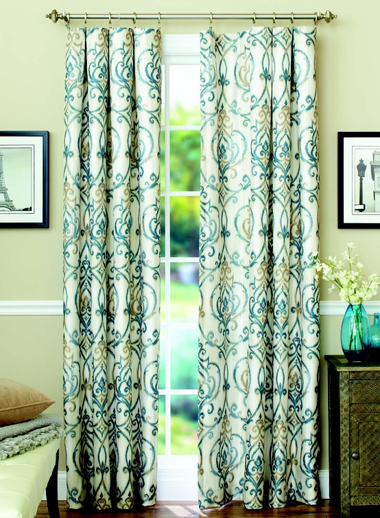 These Stylish Ikat Scroll Curtain Panels Are Designed To Block Out Light  And Reduce Unwanted Noise