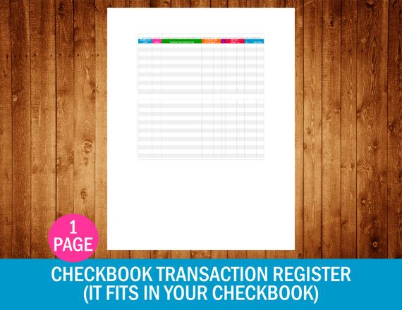 Best 25+ Checkbook Register Ideas On Pinterest | Check Register