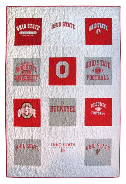 Ohio State T Shirt QuiltWant to learn how to make the tshirt quilts.