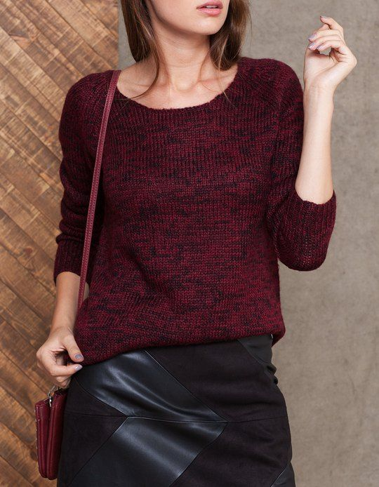 Scoop neck tricot jersey - KNITWEAR - WOMAN | Stradivarius Hungary