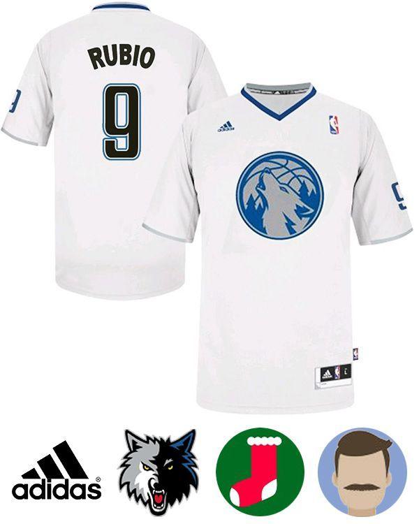 8bf0c65e9e1 ... Shop for Ricky Rubio Minnesota Timberwolves 2013 Christmas Day Swingman  Jersey Top Deals at Footseek.