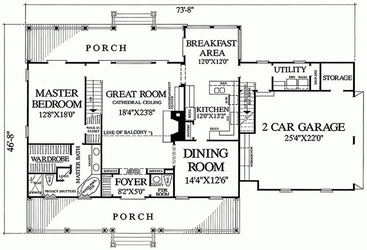 Double Porches Side Facing Garage House Plans Pinterest