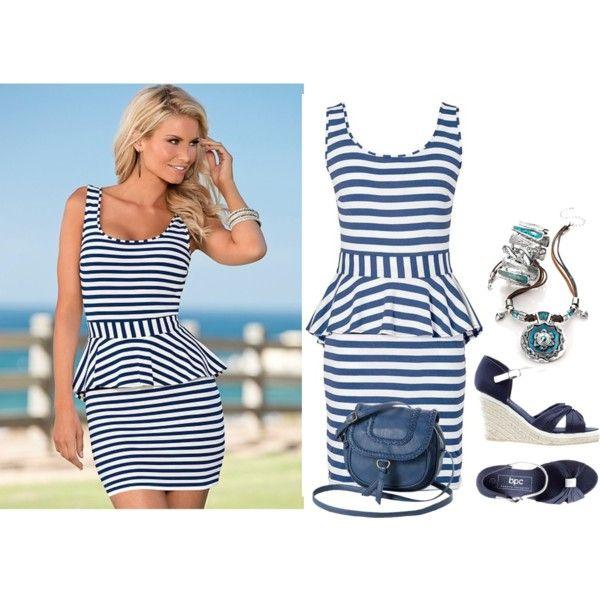 Styl marynarski by skezjablog on Polyvore featuring moda