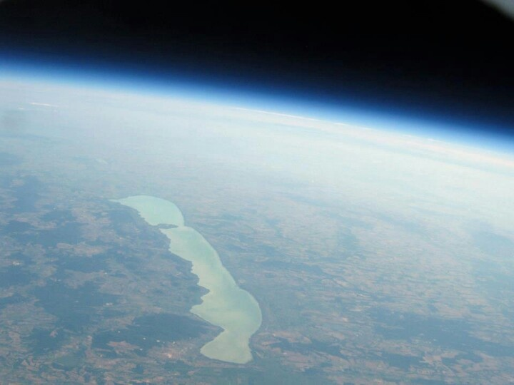 #lake #Balaton from #space #Europe #Hungary