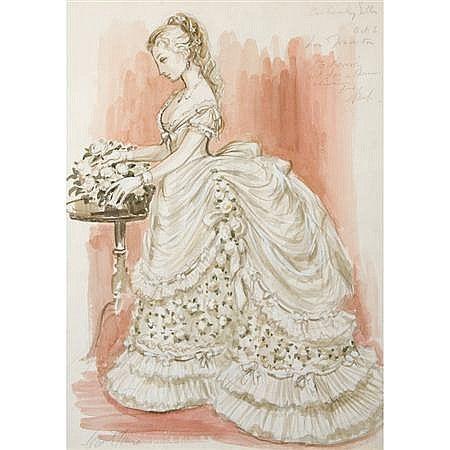 """a-redoma:Costume Design for Violera in Verdi's """"LA Traviata"""", Carl Toms British, 1927-1999 [x]"""
