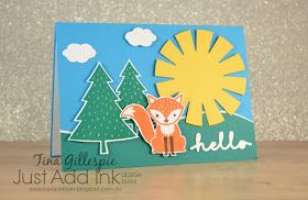 Foxy Friends, Sunburst Thinlits, Umbrella Weather Framelits