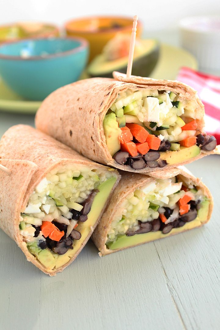 Crunchy Zucchini Noodle Wrap With Feta & Avocado - Recipe from Inspiralized