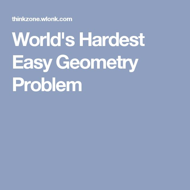 Algebra, Geometry, Trigonometry, Calculus : Which is the hardest ?