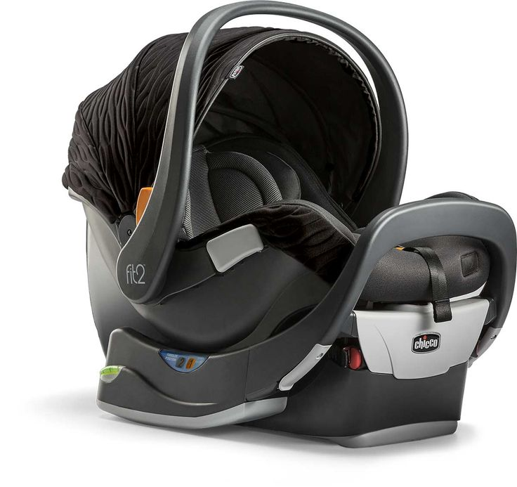 Without taking up more room in your car, the Chicco Fit2™ 2-year car seat easily converts from Infant Position to Toddler Position using the built-in stage-position lever.