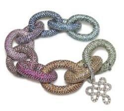 Diane von Furstenberg colored pave Sutra bracelet