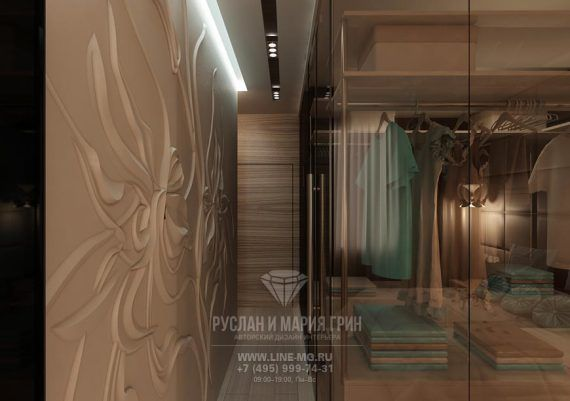 Гардеробная зона в спальне  www.line-mg.ru/garderobnaya-komnata-dizayn-interyera
