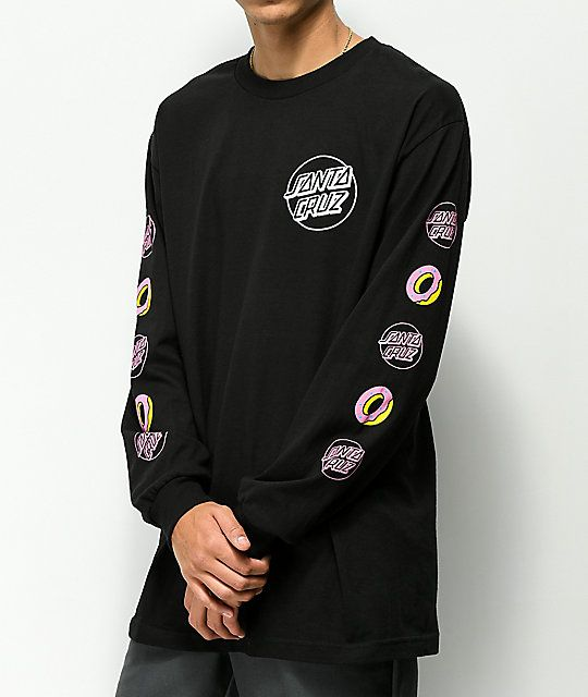 bdd6a9007114 Odd Future x Santa Cruz Screaming Donut Black Long Sleeve T-Shirt in ...