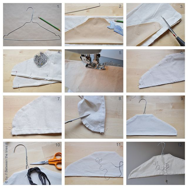 How to cover a clothes hanger