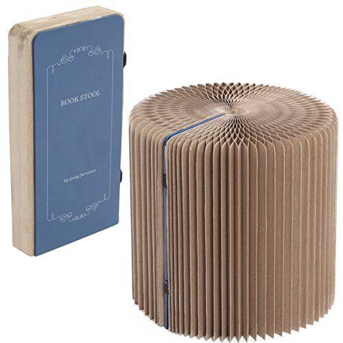 リサイクルされた紙から作られた椅子。プチプラスツール。紙で本当に大丈夫かと心配になるが、軽くて丈夫、収納も場所を取らないためとても効率的