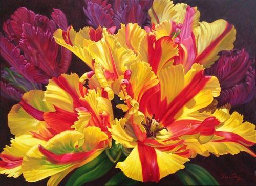 Fiona Craig 'Tulipomania II' 101cm x 137cm#14234