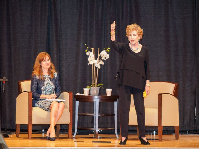 """Popular Southern author of the Mitford series, Jan Karon, discussing her new book, """"Come Rain or Come Shine,"""" at an interview in Fairhope Alabama. #Mitford #Jankaron"""