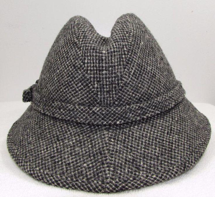 Vintage 60's 70's Biltmore Fedora Hat Tweed Style sz 6 7/8 #Biltmore #FedoraTrilby