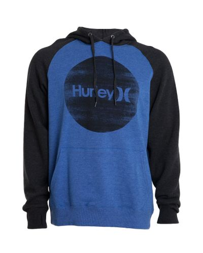 Hurley Boys Krush Raglan Pop Fleece - Heather Ultramarine  $69.99