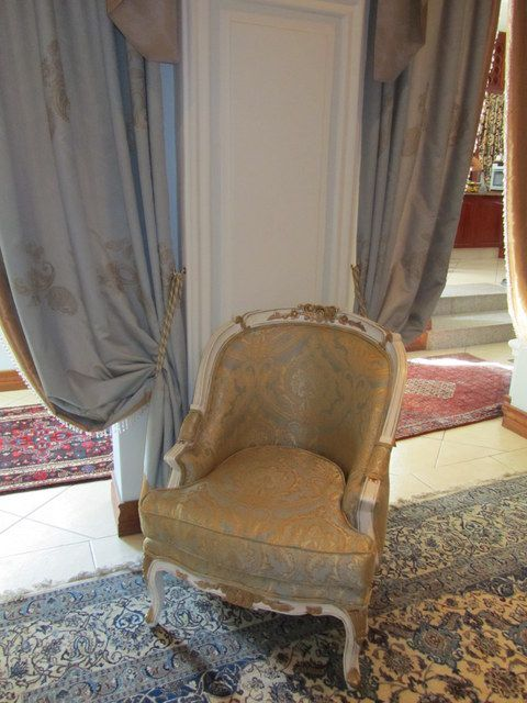 Stunning tub chair in a formal lounge