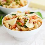 Easy Peasy Pancetta Pasta - Fit Foodie Finds