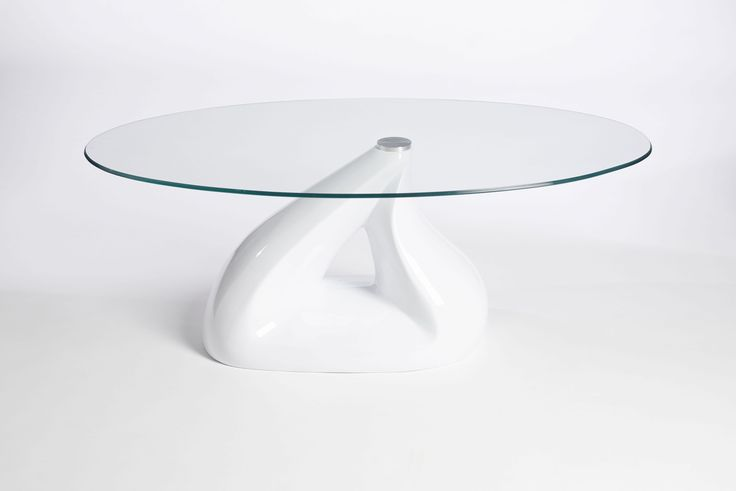 Modern Oval Glass Coffee Tables