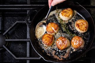 Scallops in Pan / Photo by Chelsea Kyle, food styling by Anna Stockwell