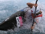 Natalia Pacierpnik of Poland competes in the women's Kayak (K1) Slalom