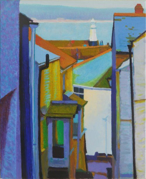 summer_evening_st_ives 60 x 50 cms Tom Henderson Smith. Click the picture or 'visit site' to access a link to its Artstack page where there are 'zoom' and 'view in room' facilities.