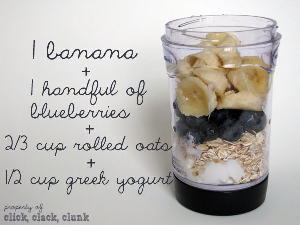 Click Clack Clunk: Blueberry Banana Oatmeal Smoothie - I used frozen ...