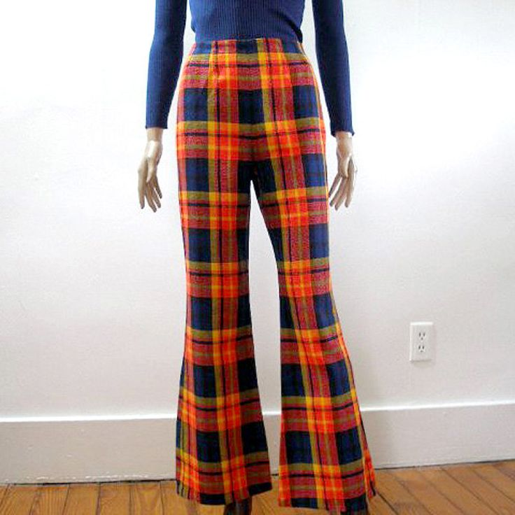 Think, that plaid bell bottoms