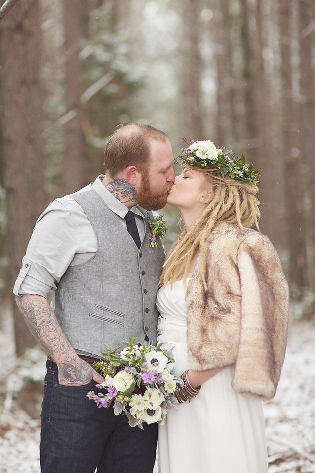 Magical Snow & Lavender Winter Wedding Shoot | Jenny Cruger Photography