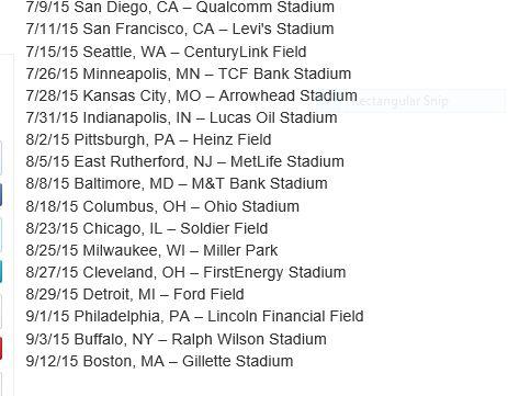 OTRT 2015 TOUR DATE ANNOUNCEMENTS.