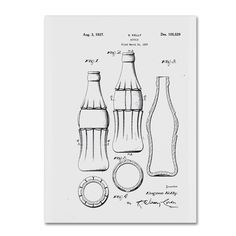 Claire Doherty 'Coca Cola Bottle Patent 1937 ' Wall Art