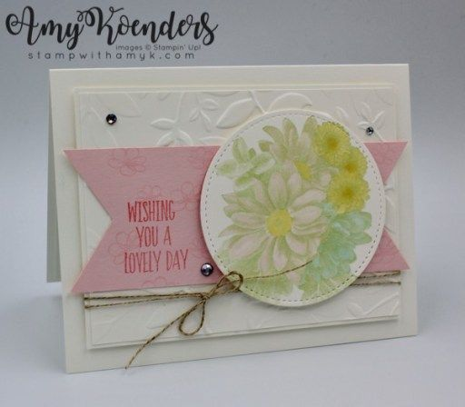 Stampin' Up! Heartfelt Blooms Lovely Day Card – Stamp With Amy K