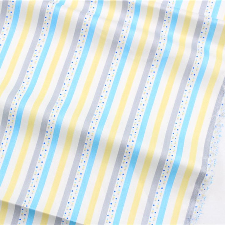 16229121 , Stripes dots cotton fabric, width 1.6 meters, DIY handmade crib bedding sets, pillows, tablecloths