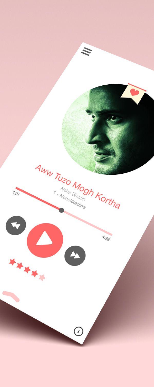 Music Player App by Naresh Bingi, via Behance