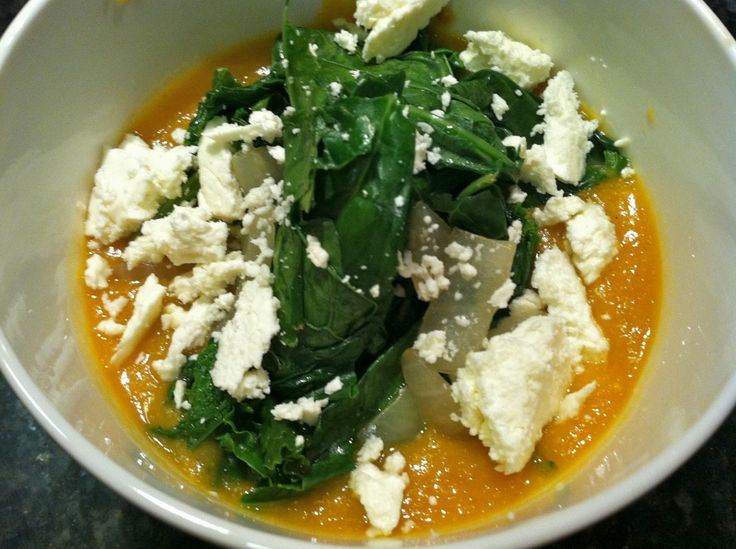 Best fall dish on earth: red lentil stew with chard + feta