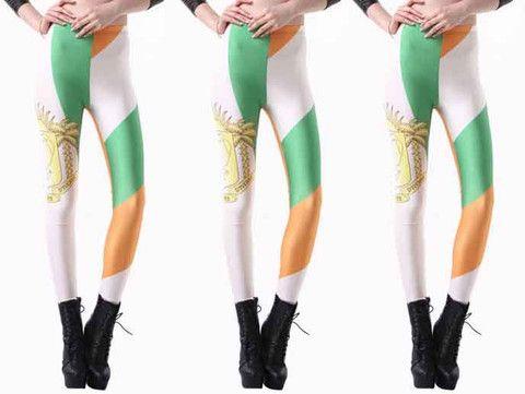 ivory coast flag leggings