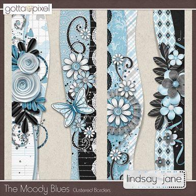 The Moody Blues Digital Scrapbook Borders. $2.00 at Gotta Pixel. www.gottapixel.net/