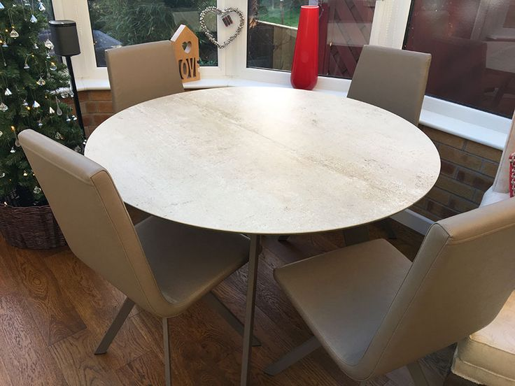 Circular Table With Premium Ceramic Top Extends To An Oval From And Fully Delivered Our Client In Nottingham