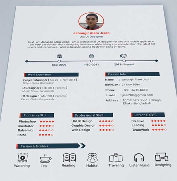 Hoja_de_vida_disenador Resumes Pinterest Infographic, Cv - hobbies in resume