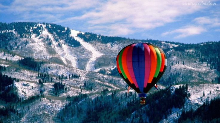 Zima, Góry, Balon