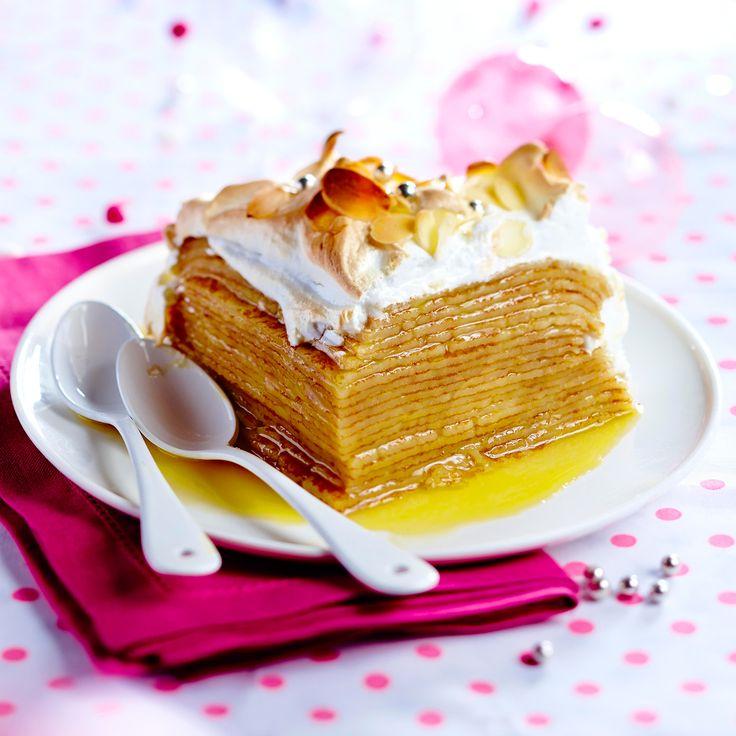 Gâteau de crêpes au citron meringué Cliquez sur la photo pour la recette
