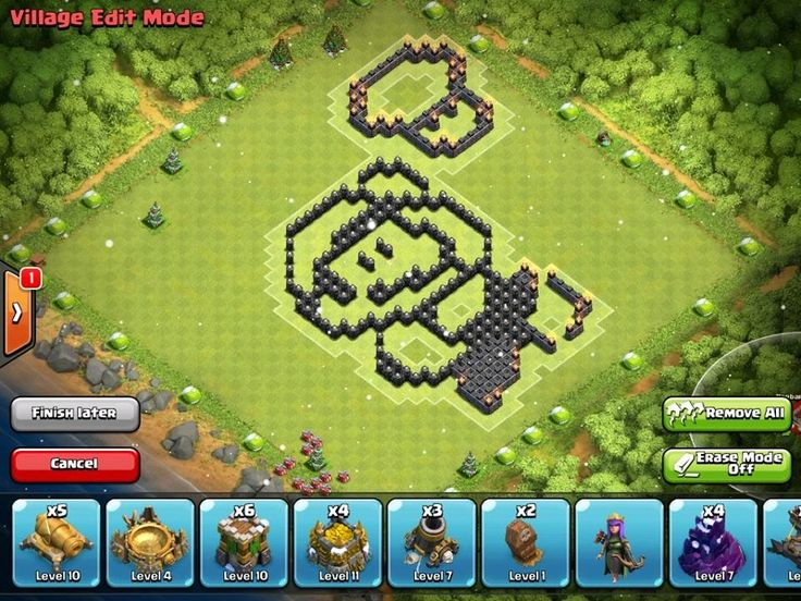 base in clash of clans th6