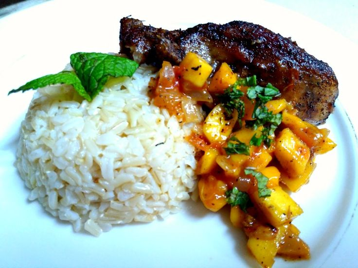 172 best food glorious food images on pinterest tours food north carolina jamaican jerk chicken with mango salsa and rice forumfinder Images