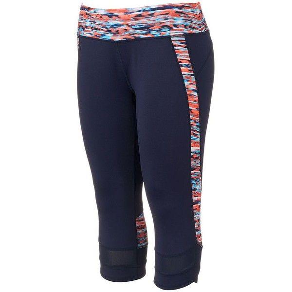 Plus Size Tek Gear® DRY TEK Capri Workout Leggings ($22) ❤ liked on Polyvore…