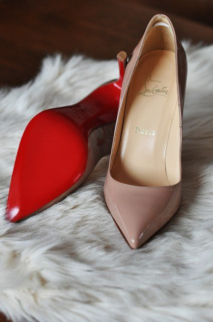 christian louboutin 'pigalle 120' in patent nude. such a classic. painful as hell, but a classic. #shoeporn